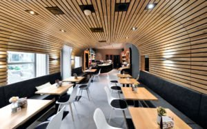 Sitzkuppel im Kanne Café in Harlaching