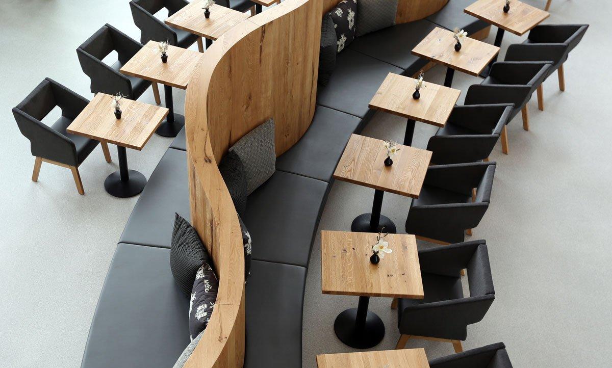 Sitzbereich im Kanne Café in Kassel