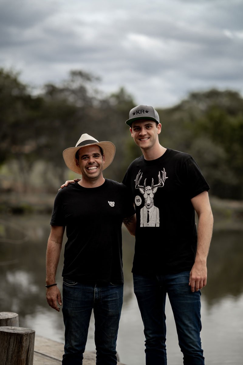 Henrik Kanne mit brasilianischem Farmer
