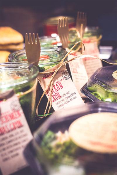 One Pots Kannelloni Food Market in der Medizinischen Hochschule Hannover
