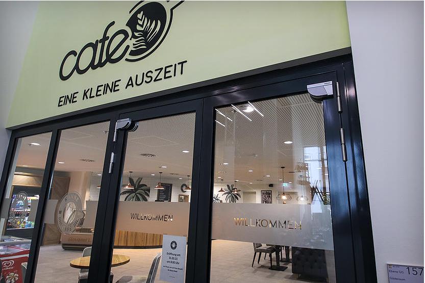 Kanne Café Karlsruhe Eingangsbereich